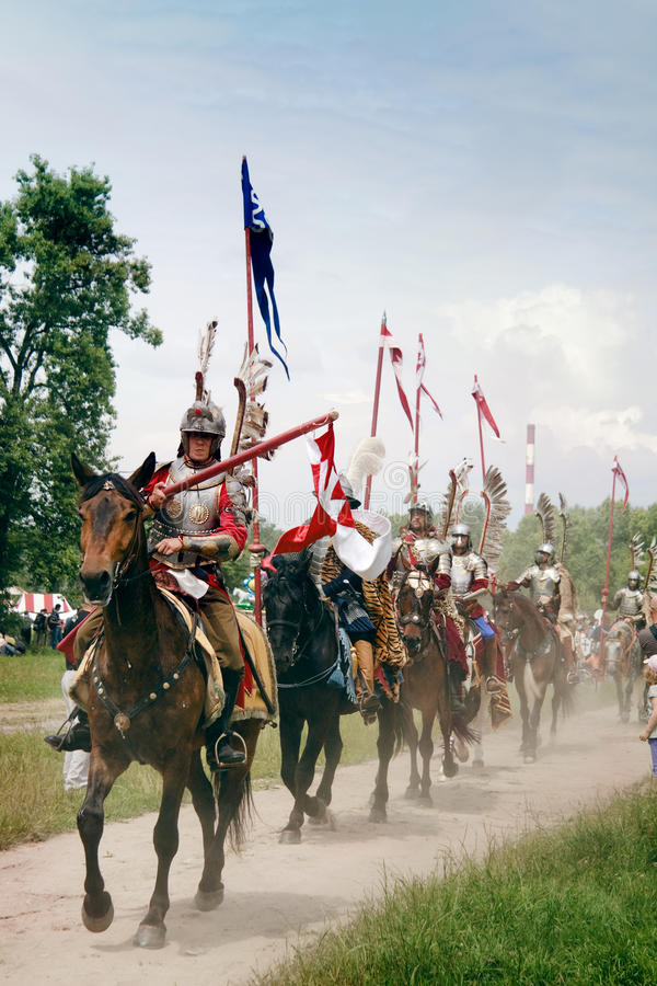kawalerii hussars przejażdżka obrazy stock