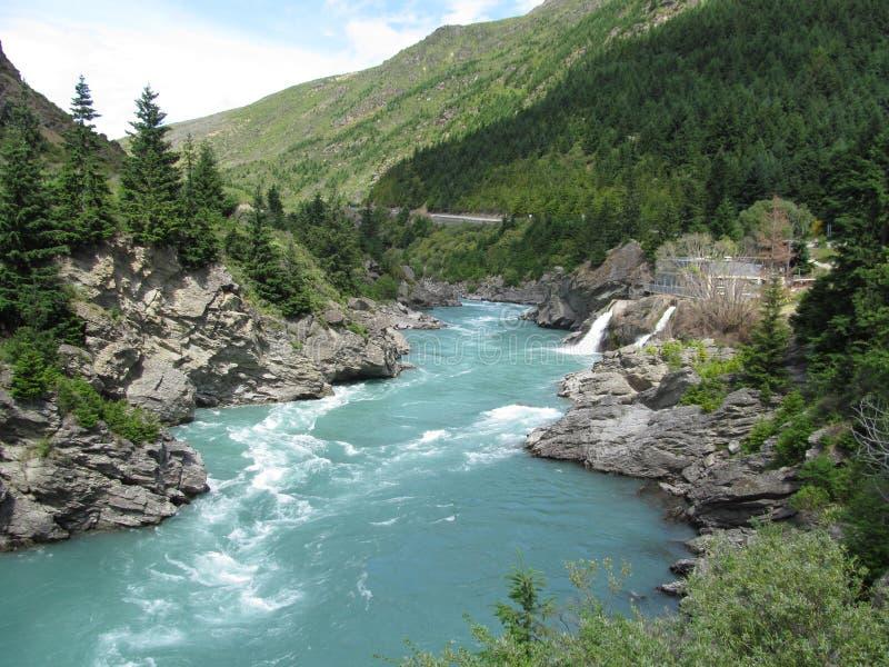 Kawarau Fluss lizenzfreie stockfotos