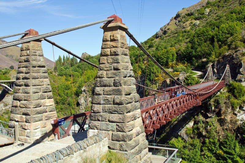 Kawarau-Hängebrücke lizenzfreie stockfotos