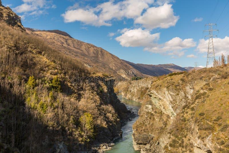 Kawarau river. In Queenstown, New Zealand royalty free stock photo