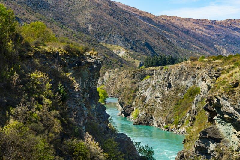 Kawarau river. In Queenstown, New Zealand stock photo