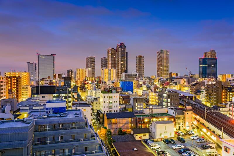 Kawasaki, ορίζοντας της Ιαπωνίας στοκ φωτογραφία με δικαίωμα ελεύθερης χρήσης