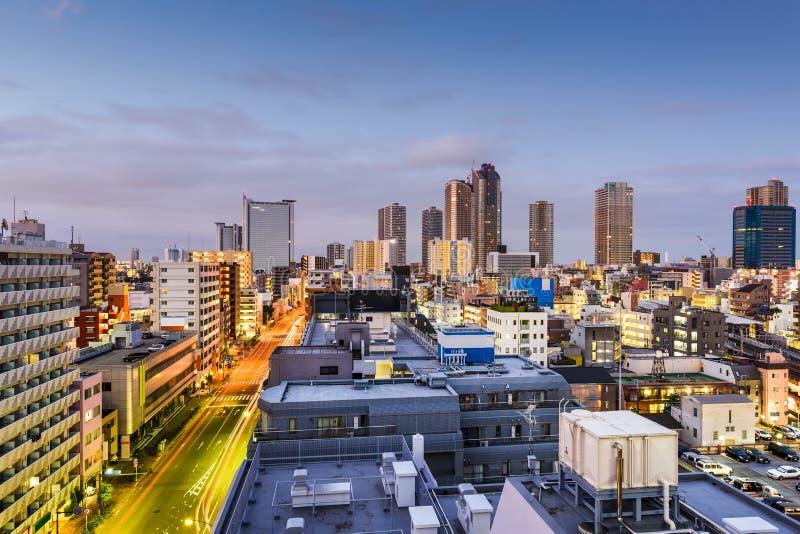 Kawasaki Cityscape arkivfoto