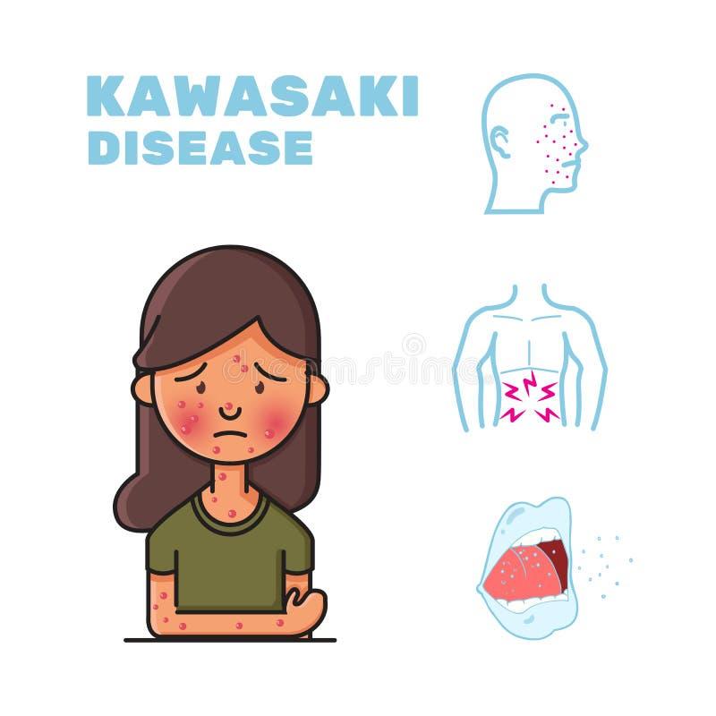 Kawasaki disease illustration design stock photography