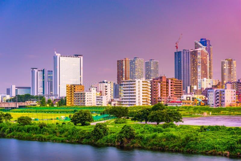 Kawasaki, horizonte de Japón fotografía de archivo