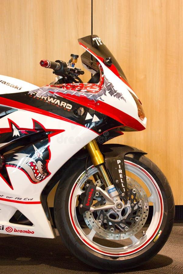 Kawasaki Motorcycle. royaltyfria foton
