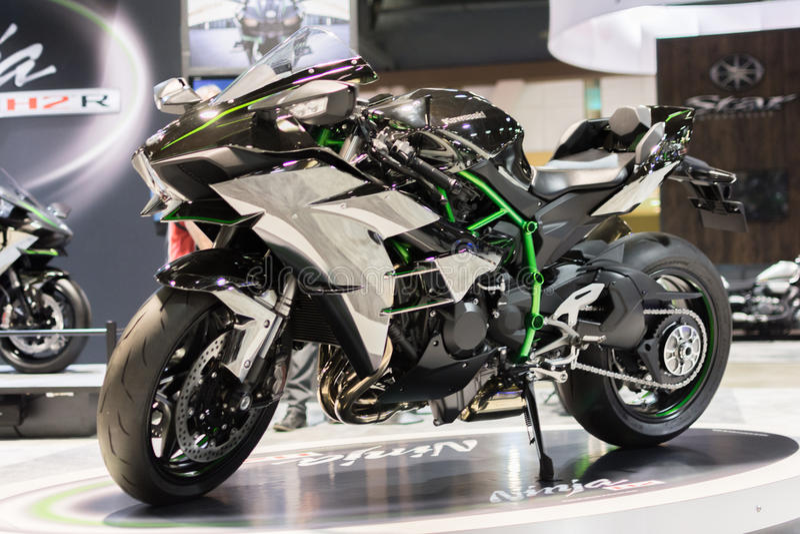 Kawasaki Ninja H2 motorcykel 2015 arkivfoto