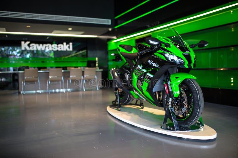 Kawasaki Ninja ZX-10R. Motorcycle in Kawasaki authorized dealer Showroom, Chiangmai, Thailand stock photography