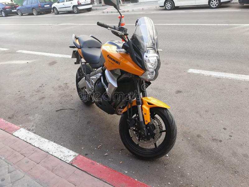 Kawasaki Versys royaltyfri foto