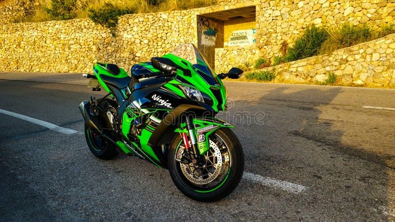Kawasaki zx10r 2017 arkivbild