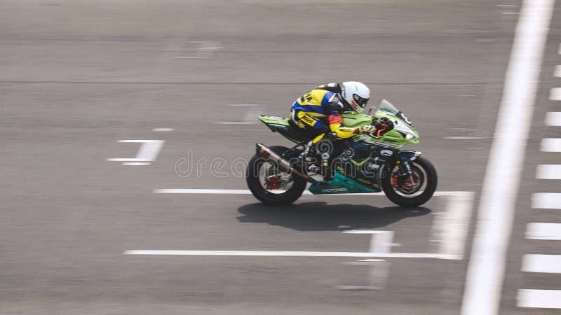 Kawasaki ZX 10R door Bolliger Team Switzerland stock foto