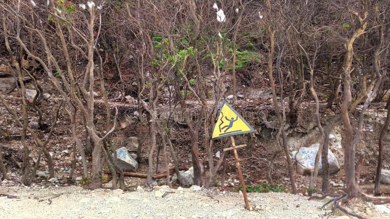 Kawasan kawah van Pohondi putih, Bandung, Indonesi? royalty-vrije stock afbeeldingen