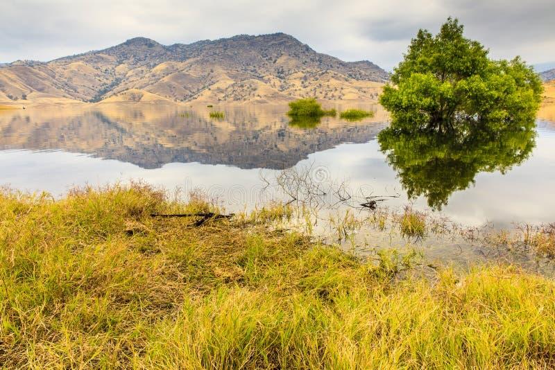 Kaweah湖加利福尼亚 免版税库存照片