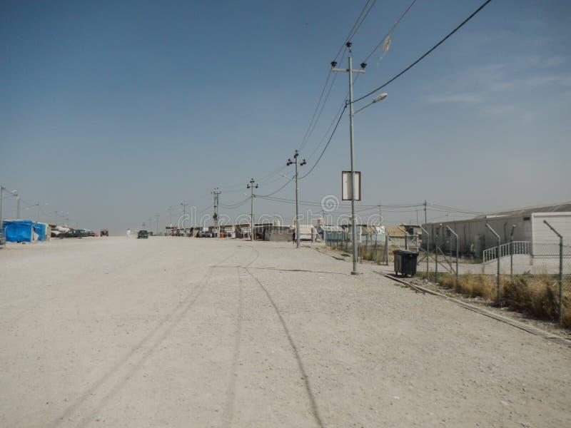 22 05 2017, Kawergosk, Irak : Le camp de réfugié surchargé en Irak avec des réfugiés se sauvant de EST ou état islamique photographie stock