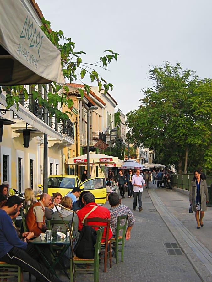 Kawiarnią W Ateny zdjęcie stock