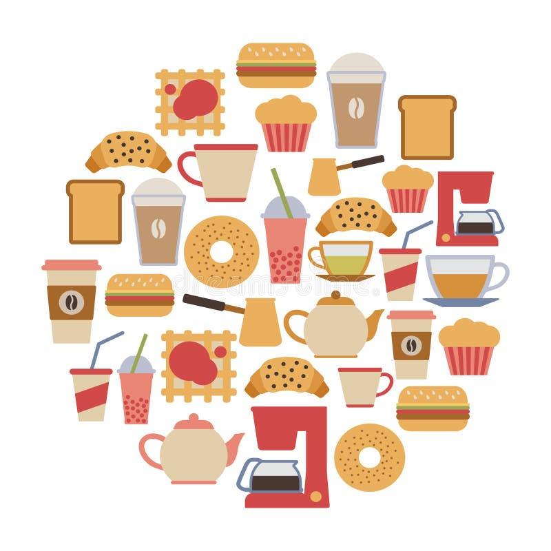 Kawiarni karta ilustracji