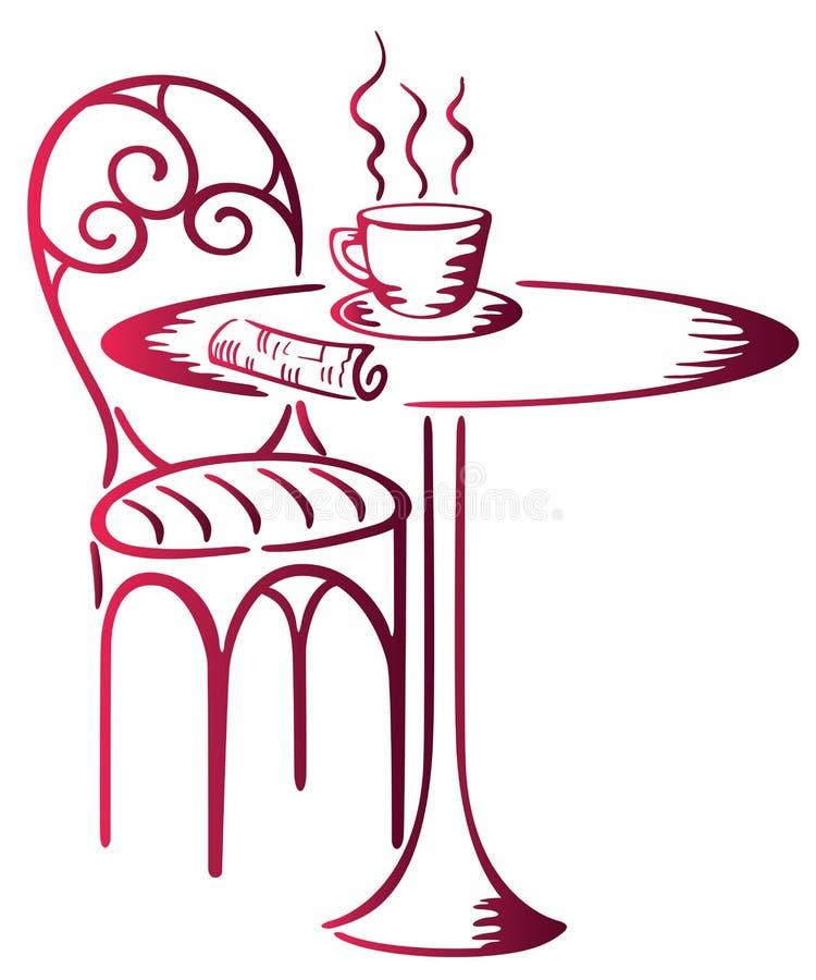 kawiarnia royalty ilustracja