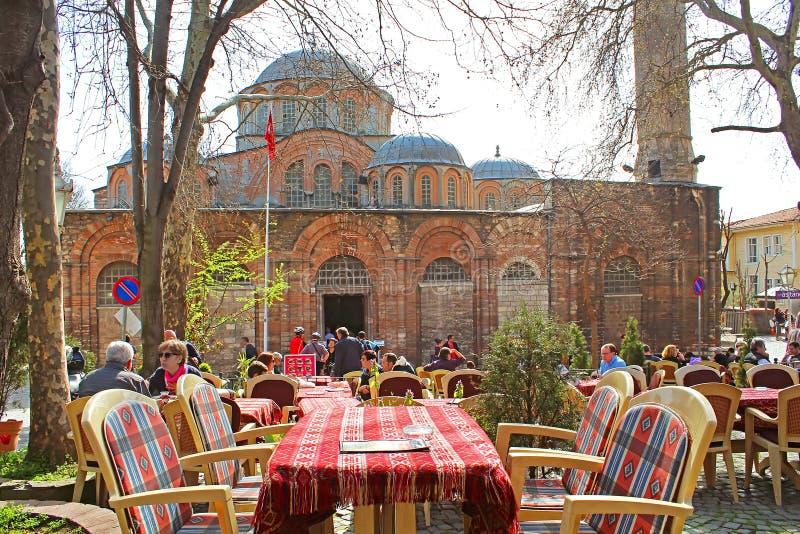 Kawiarnia blisko kościół Święty wybawiciel Na zewnątrz ścian zdjęcia royalty free