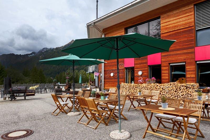 Kawiarnia na arenie Antholz obraz stock