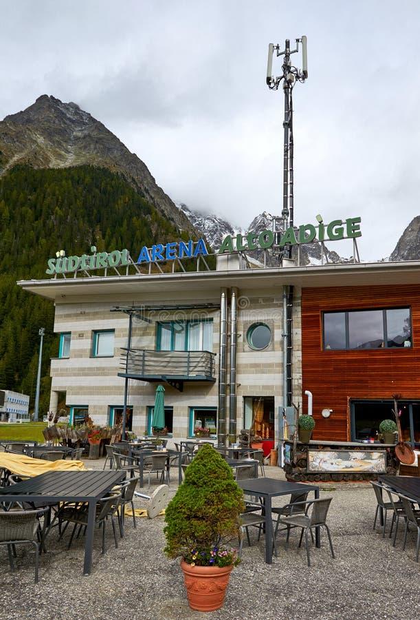 Kawiarnia na arenie Antholz zdjęcia royalty free