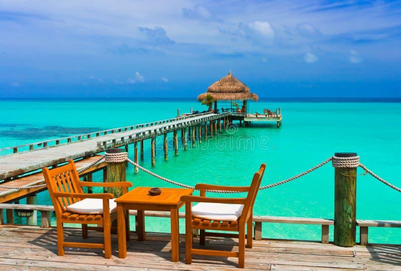 Kawiarnia na plaży zdjęcia stock