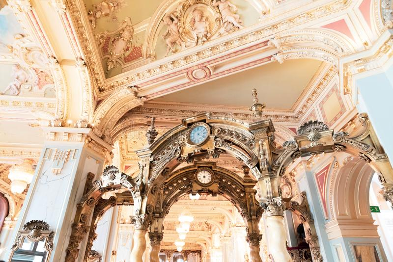 Kawiarnia nowojorska - Budapeszt, Węgry zdjęcia royalty free
