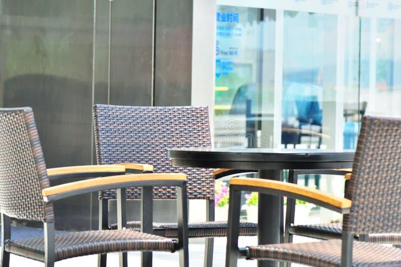 kawiarnia plenerowa obraz stock
