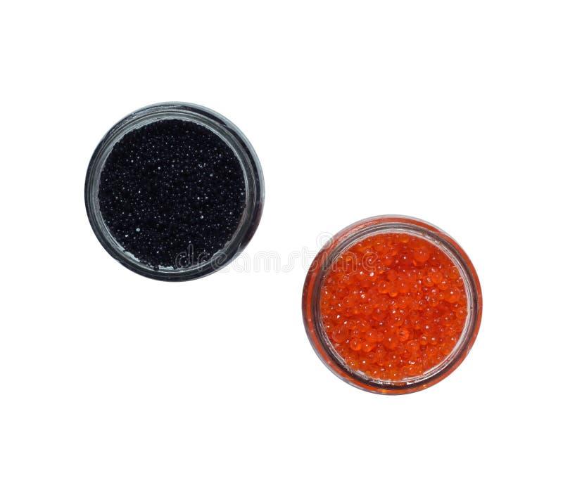 kawior czarny czerwień zdjęcie stock
