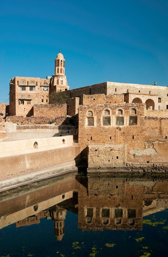 kawkaban byvatten yemen för cistern arkivfoto