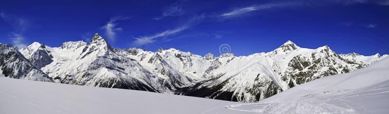 kawkaz góry panorama obraz stock