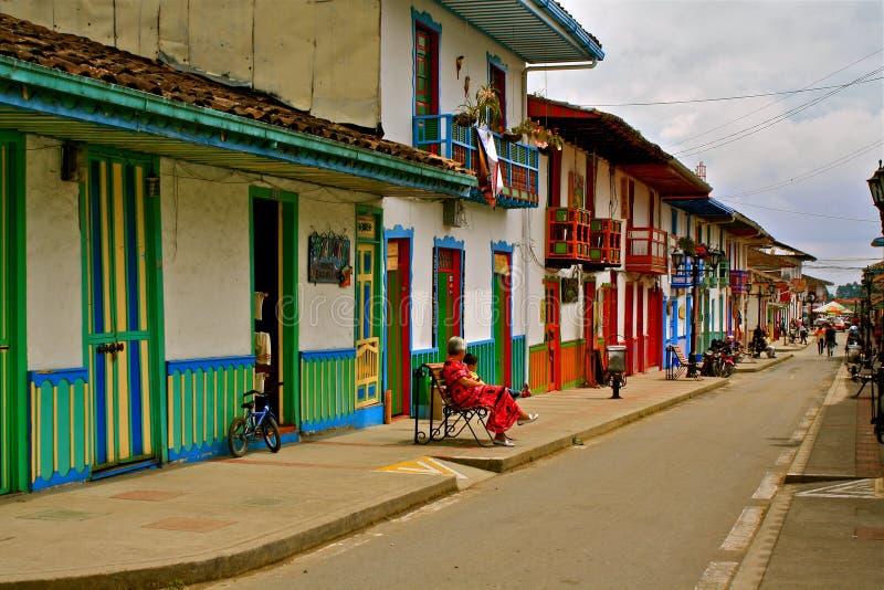 kawowa Colombia życia regionu salento ulica zdjęcie stock