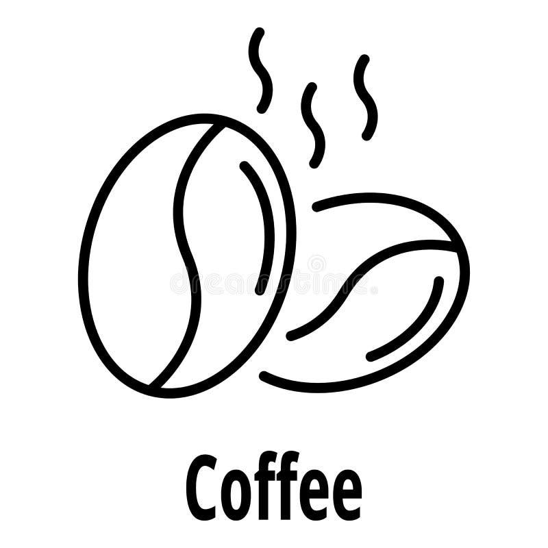 Kawowa dokrętki ikona, konturu styl ilustracji