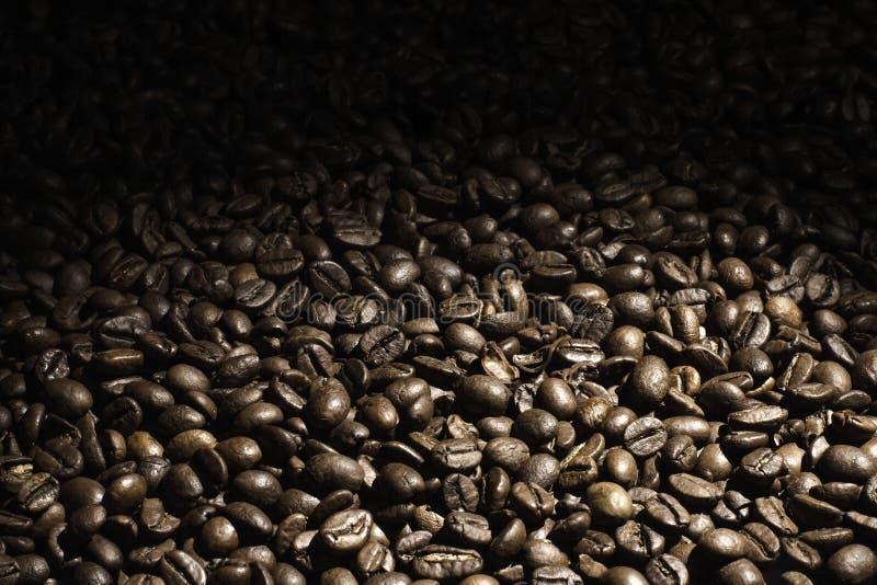 Kawowa fasola blaknie za tle obrazy royalty free