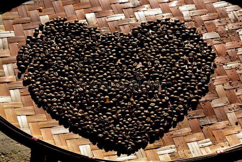 Kawowa fasola miłość zdjęcia royalty free
