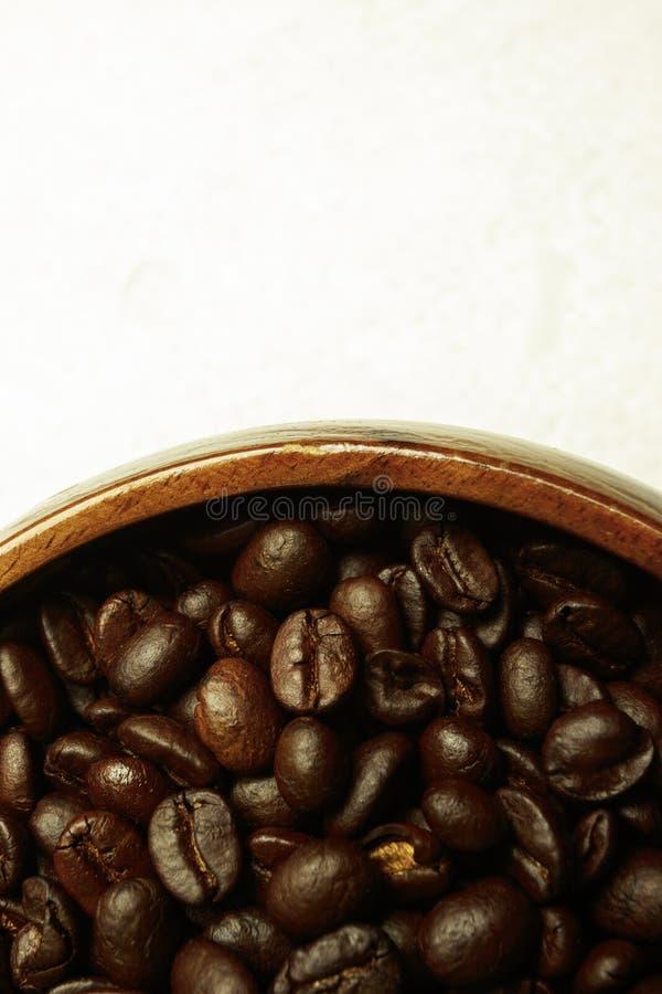 Kawowa fasola z suchym kwiatem fotografia stock