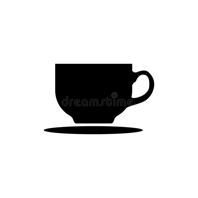 Kawowa herbacianej filiżanki ikona wektor ilustracji