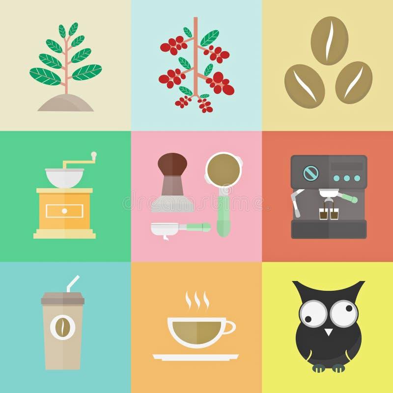 Kawowa ikona royalty ilustracja
