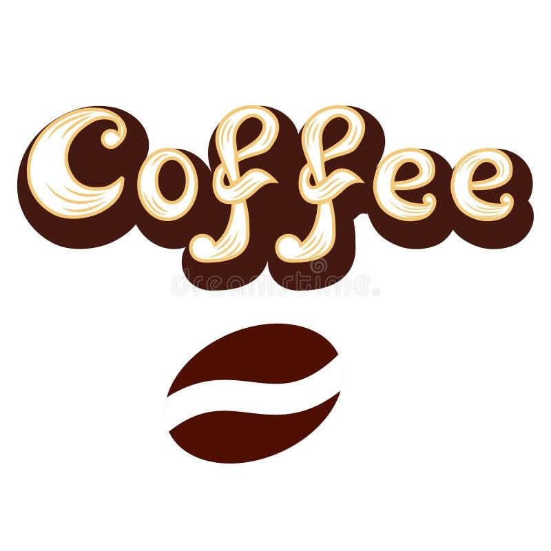 Kawowa ikona Dla bufeta lub kawy menu logo royalty ilustracja
