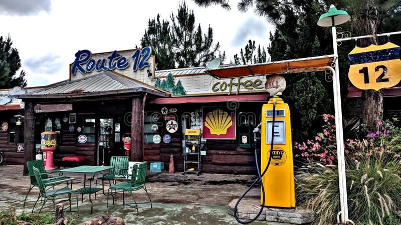 Kawowa kawiarnia obrazy royalty free