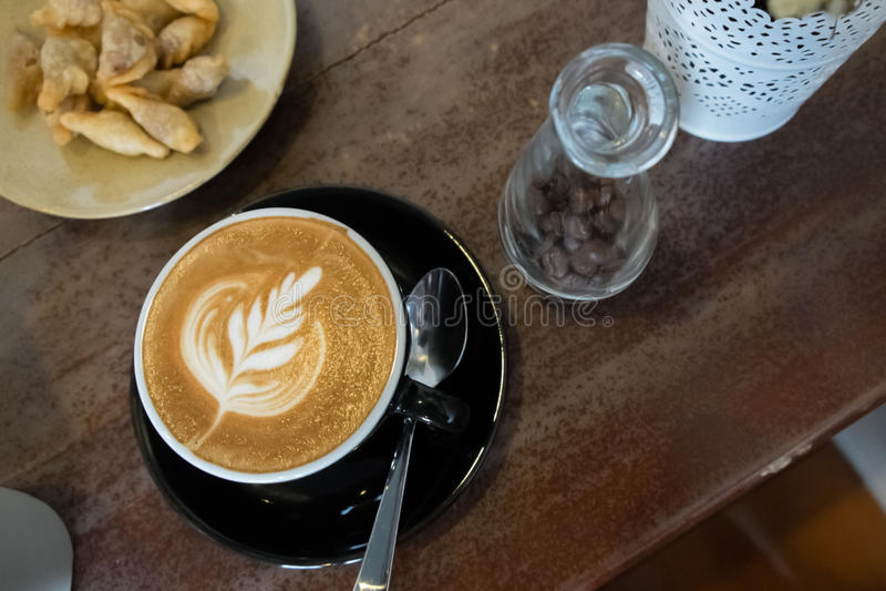 Kawowa latte sztuka obraz royalty free