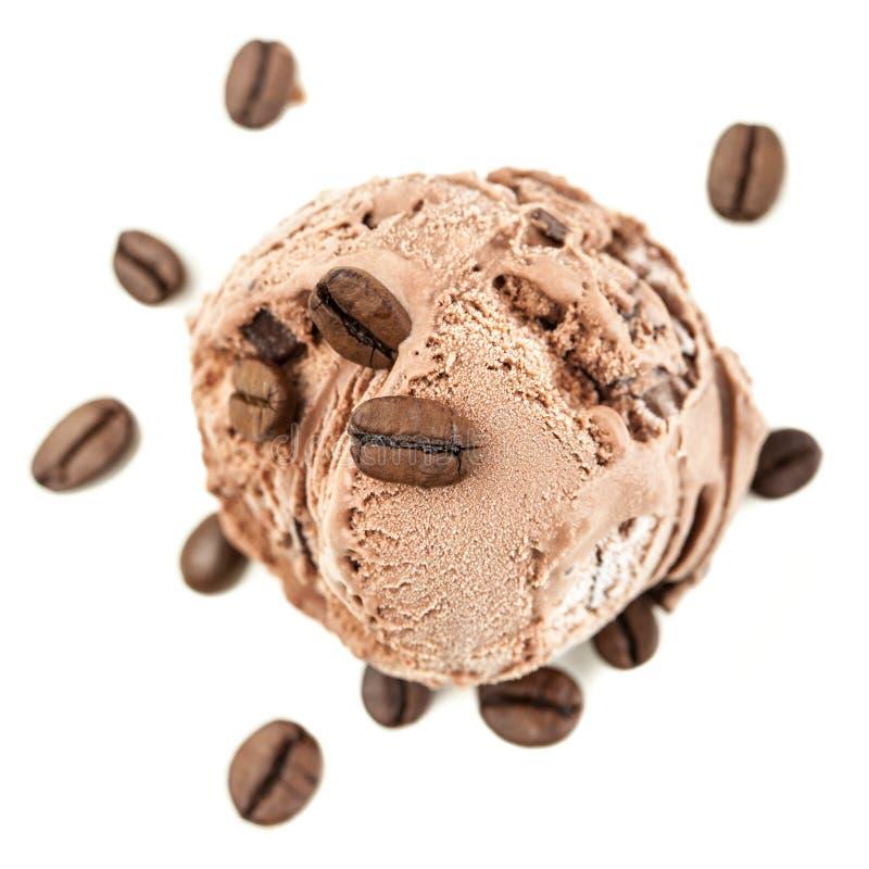 Kawowa lodowa piłka z góry zdjęcie royalty free