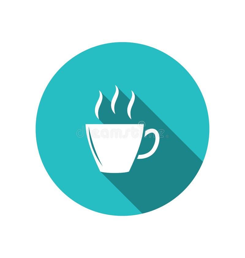 Kawowa lub herbaciana filiżanka, modny płaski minimalny styl ilustracji