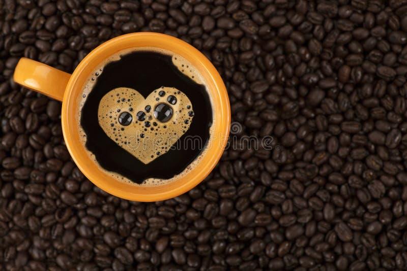 Kawowa miłość zdjęcia royalty free