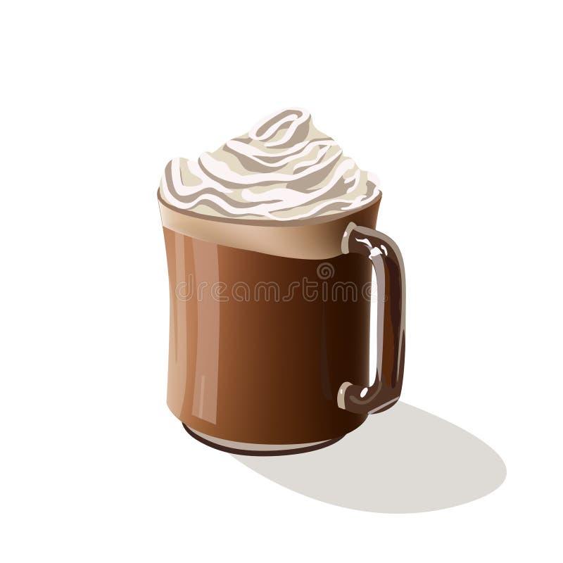 Kawowa napój mokka ilustracji