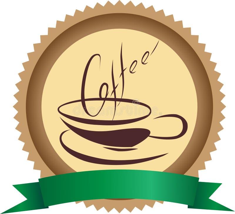Kawowa odznaka zdjęcia royalty free