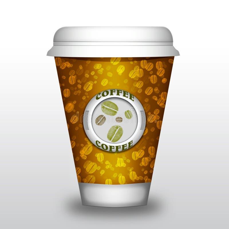 Kawowa papierowa filiżanka ilustracji