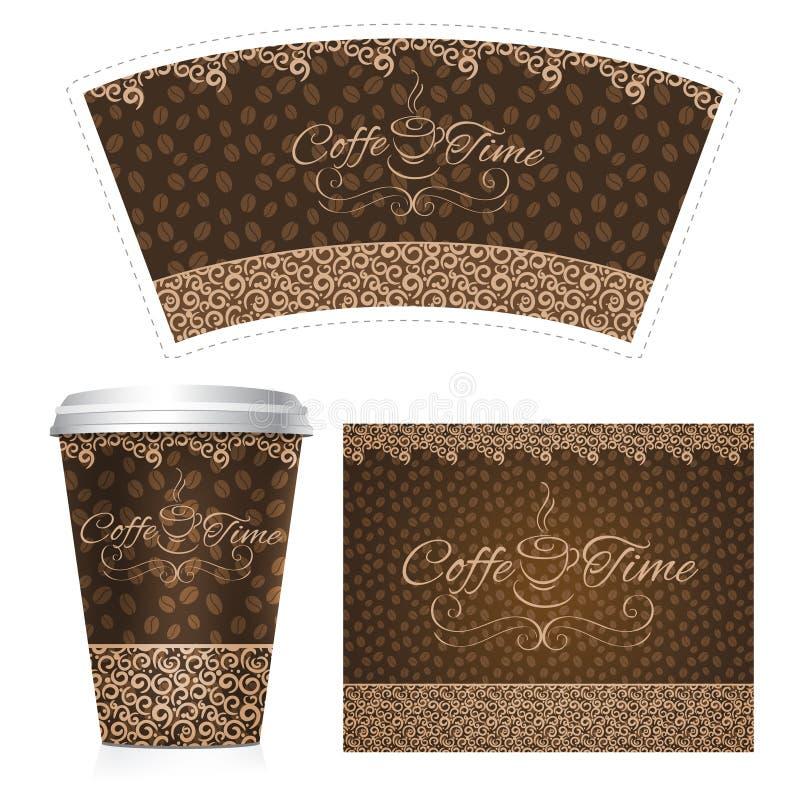 Kawowa Papierowa filiżanka royalty ilustracja