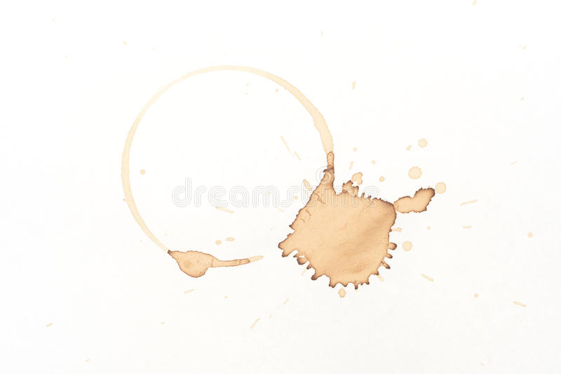 Kawowa plama obrazy stock