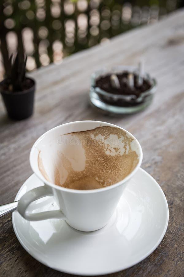 Kawowa plama w filiżance obraz royalty free
