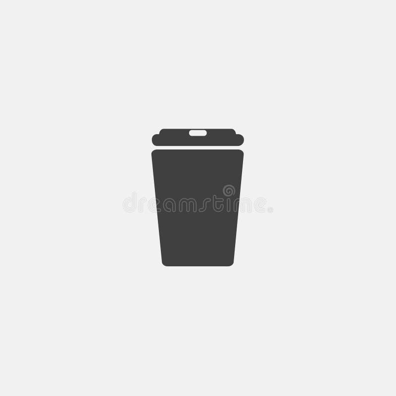kawowa plastikowa butelki ikona ilustracji